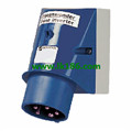 Mennekes Wall mounted phase inverter inlet 3347
